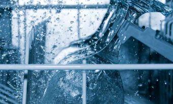 Inside dishwasher