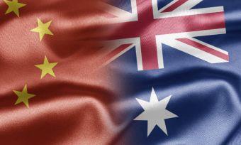 china v australia banner