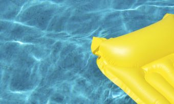 new pool yellow raft