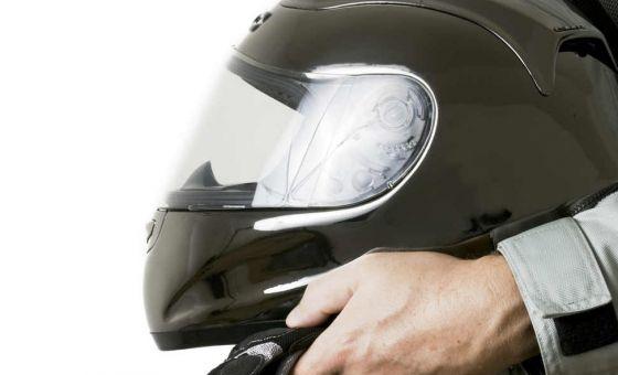Motorbike helmet road safety
