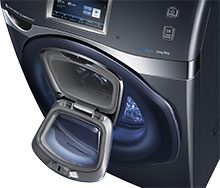 Samsung washing machine with addwash door open