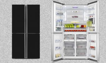 french door fridge hisense