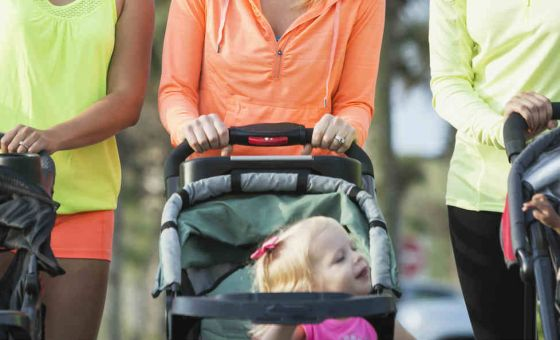 mothers with babies in prams