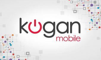 Kogan logo on a styled background