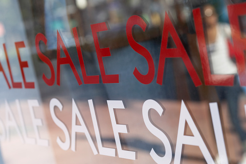 Sale sign window