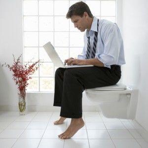 Social media on toilet