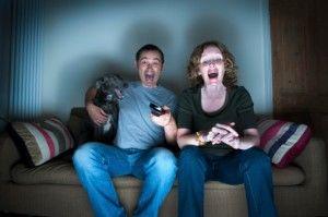 TV laughing