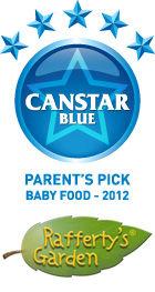 Parents Pick Award - Baby Food - 2012