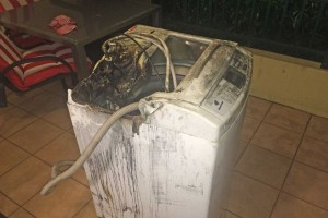 burnt out samsung washing machine