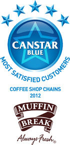 Most Satisfied Customers for Coffee Shop Chains: 2012