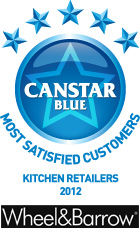 Most Satisfied Customers Award for Kitchen Retailers - 2012