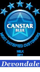 Most Satisfied Customers Award: Milk (2011)