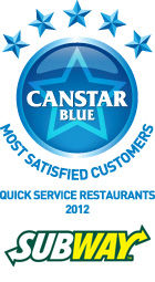 Most Satisfied Customers Award for Quick Service Restaurants - 2012