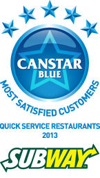Most Satisfied Customers Award for Quick Service Restaurants - 2013