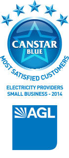 AGL: Electricity Providers Award Winner for Small Business, 2014