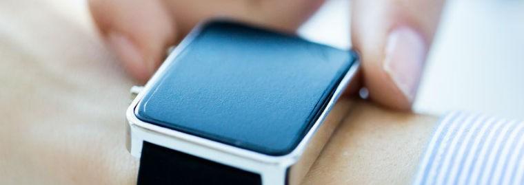 smart watch close-up banner