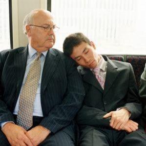 Train Commuter Asleep