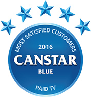 Paid TV 2016 Most Satisfied Customers Award logo