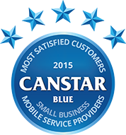 2015 Canstar Blue small business mobile phone provider award