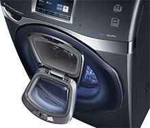 Samsung washing machine with addwash door open