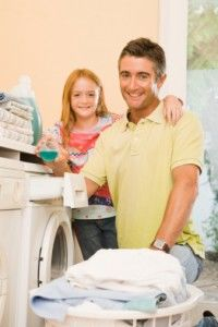 Father daughter laundry