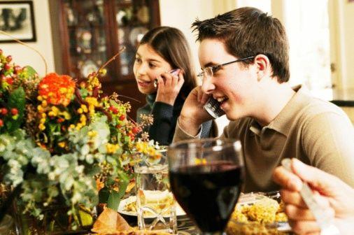 Smartphone dinner table