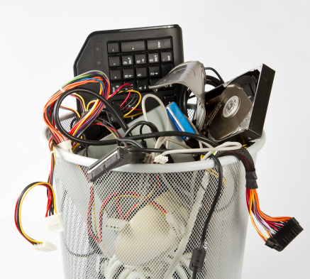 How can businesses dispose of e-waste
