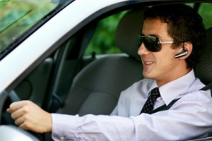 business person driving