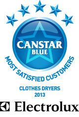 2013: Most Satisfied Customers Award for Clothes Dryers - Electrolux