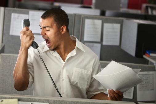 Yelling rude customer service