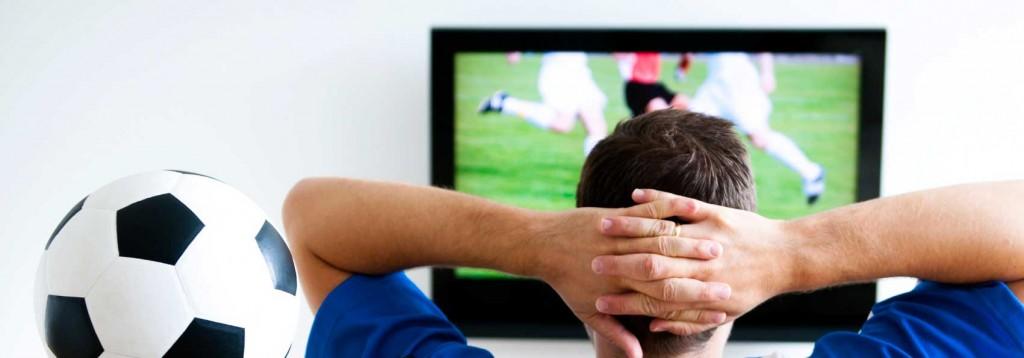 Man watching soccer