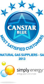 Most Satisfied Customers for South Australia Natural Gas Suppliers: 2013