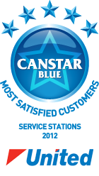 Most satisfied customers for service stations, 2012