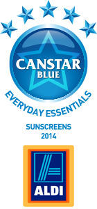 ALDI - Rated five stars for Sunscreen, 2014