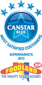 Most Satisfied Customers Award Supermarkets - 2013